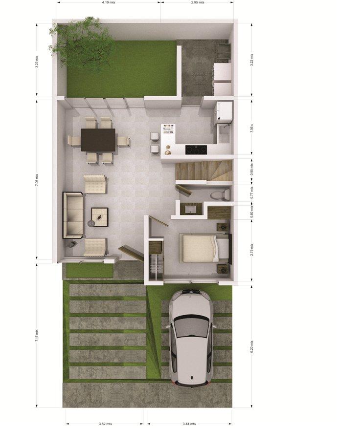 Casa fenix en valle imperial seccion bosques - Planos de casas de planta baja ...